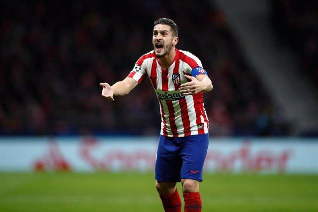 El capitán del Atlético de Madrid, Koke Resurrección