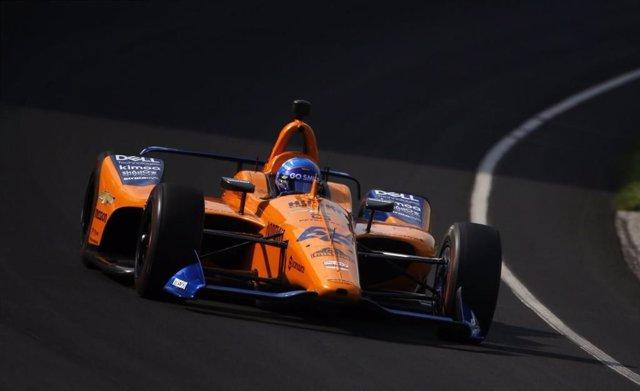 Fernando Alonso en la calificación de las 500 Millas de Indianápolis