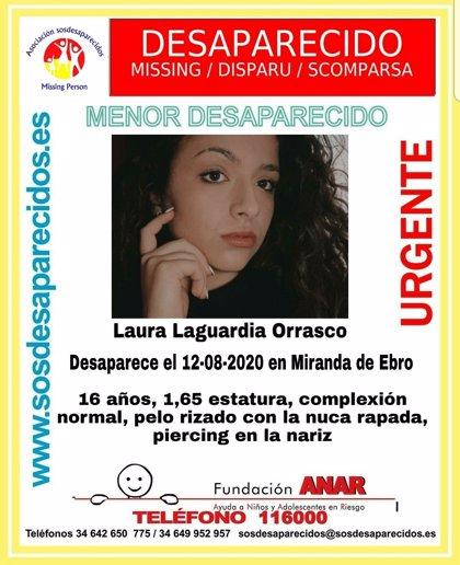 Buscan desde el miércoles a una menor de 16 años desaparecida en Miranda de Ebro