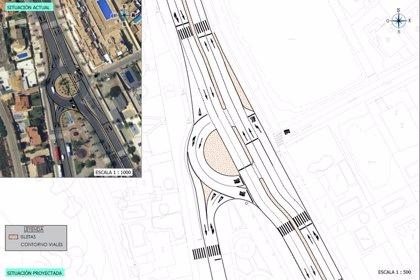 La nueva rotonda del Caballito ayudará a mejorar la movilidad y eliminar los atascos en La Manga
