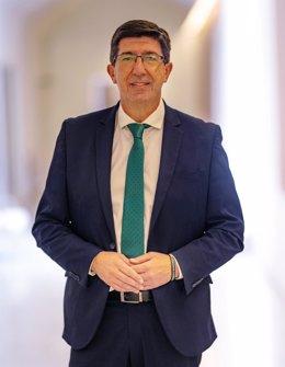 Entrevista al  vicepresidente de la Junta y consejero de Turismo, Regeneración, Justicia y Administración Local, Juan Marín