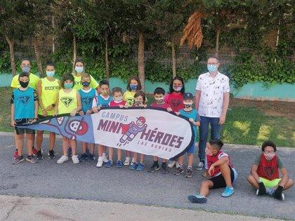 Un total de 143 niños disfrutan de un verano deportivo y saludable en el campus 'Mini Héroes' en Pradoviejo