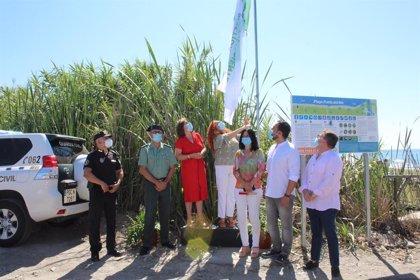 """El Gobierno pide """"responsabilidad"""" en las playas de Salobreña, que estrenan banderas de calidad"""