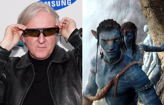 El Director James Cameron Junto A Sus Criaturas De Avatar