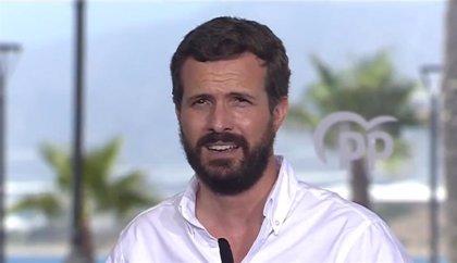 """Casado exige a Sánchez que """"vuelva de vacaciones"""" y asuma su responsabilidad ante la """"segunda oleada"""""""