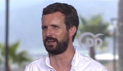 "Casado reprocha a Sánchez que no tenga ""nada que opinar"" sobre Podemos y le exige cesar a Iglesias"