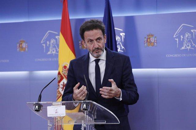 El portavoz adjunto de Ciudadanos en el Congreso de los Diputados, Edmundo Bal.