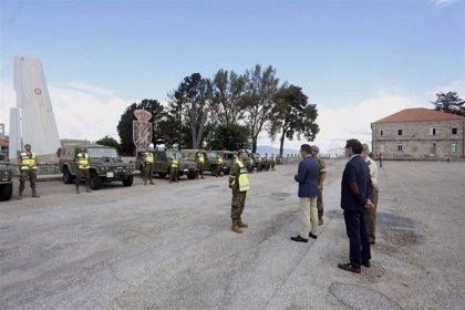 """El Ejército se incorpora a la vigilancia del monte y la Xunta avisa que será """"implacable"""" con los incendiarios"""