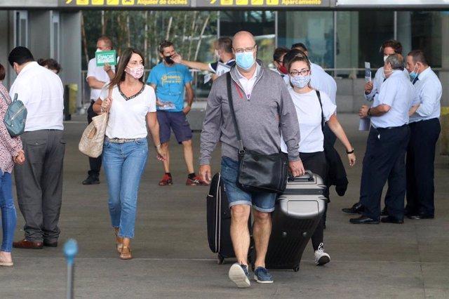 Llegadas de pasajeros al aeropuerto