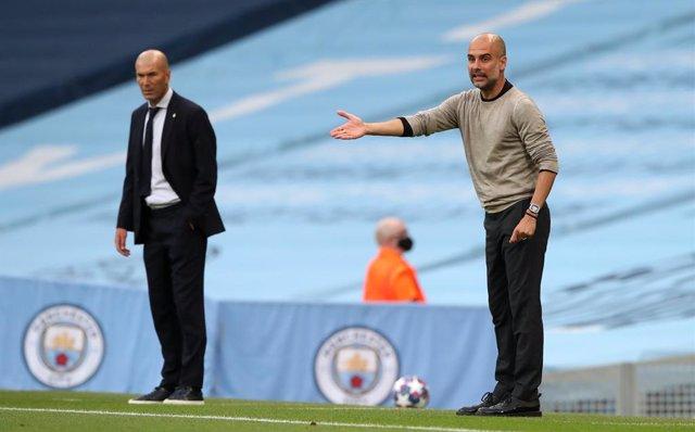 """Fútbol/Champions.- Pep Guardiola: """"La presión está ahí, es un momento muy import"""
