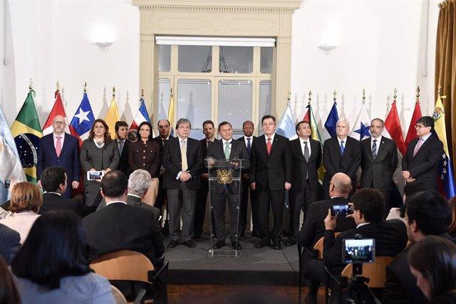 Imagen de archivo de una reunión del Grupo de Lima celebrada en Ottawa.