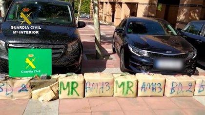 La Guardia Civil desmantela en Madrid una organización dedicada al tráfico de hachís que utilizaba vehículos VTC