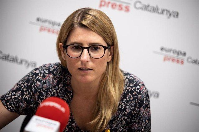 La nueva vicepresidenta de JxCat, Elsa Artadi, durante una entrevista para Europa Press realizada en Barcelona, Catalunya, (España) a 10 de agosto de 2020.