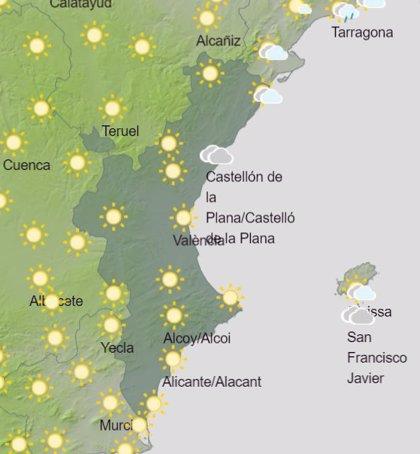 Las temperaturas máximas aumentan en la Comunitat Valenciana, con posibles chubascos y tormentas en Castellón