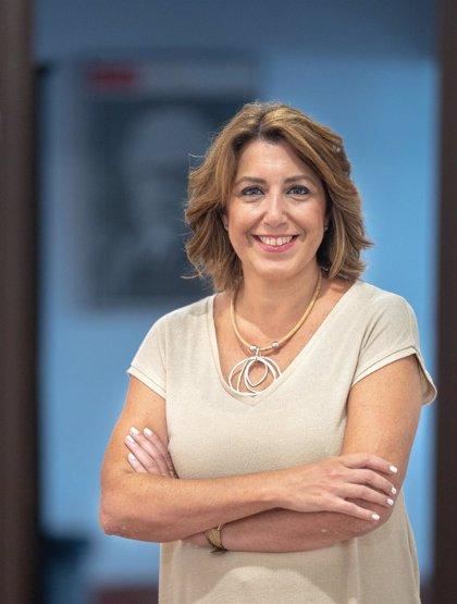 """Susana Díaz lamenta el """"culebrón de verano"""" del rey emérito y defiende que Felipe VI """"se esfuerza"""" en transparencia"""