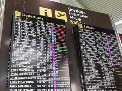 Los aeropuertos de Baleares operan este sábado 874 vuelos, el 65% internacionales