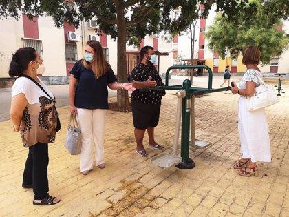 Concluyen las obras de mejora de la Plaza Poeta en Nueva York del Polígono Sur de Sevilla