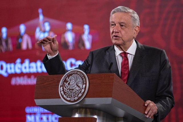 """Coronavirus.- López Obrador dice que el coronavirus está """"bajando su intensidad"""""""