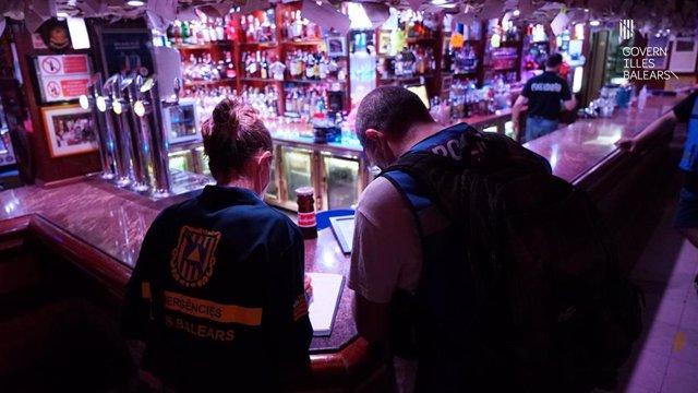 Inspección en un local de ocio nocturno de Baleares