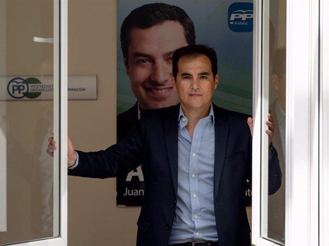 El portavoz parlamentario del PP-A, José Antonio Nieto, en una entrevista concedida a Europa Press.