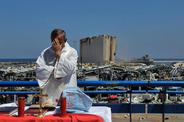 Misa en recuerdo de las víctimas de la explosión de Beirut