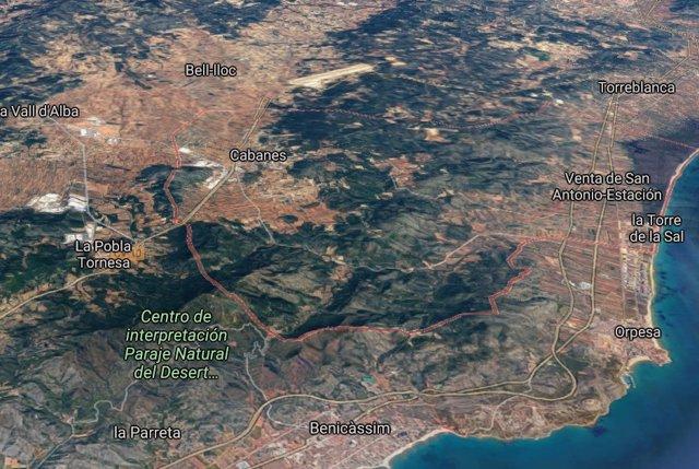 Localización de Cabanes