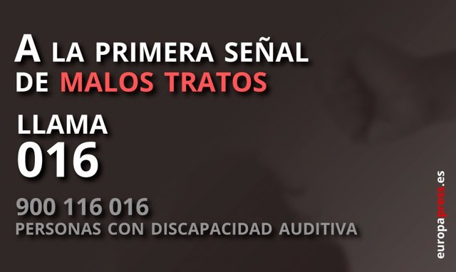 Teléfono 016 para las víctimas de violencia de género