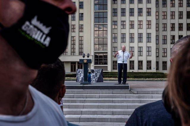 Bielorrusia.- Lukashenko asegura que no cederá a las presiones y descarta repeti