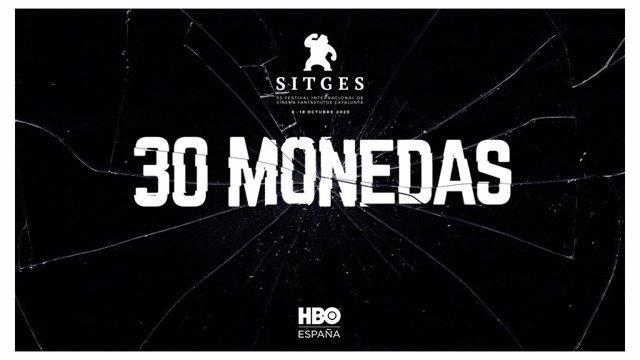 Cartell de la sèrie '30 monedes' en el Festival de Sitges