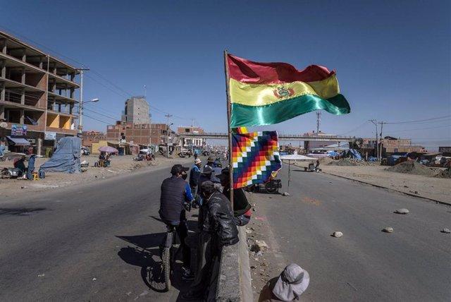 Manifestación en El Alto contra el aplazamiento de las elecciones generales en Bolivia (Imagen de archivo)