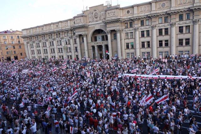 Bielorrusia.- Las principales familias políticas de la Eurocámara piden nuevas e