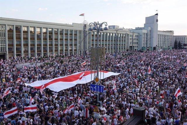 Bielorrusia.- La UE muestra su apoyo a las movilizaciones sin precedentes en Bie