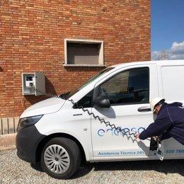 Prova pilot d'Ensara per promoure el desplaçament dels seus operaris amb cotxe elèctric