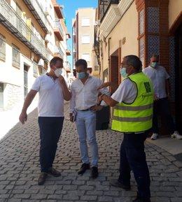 Visita a las obras de la calle Azulejos.