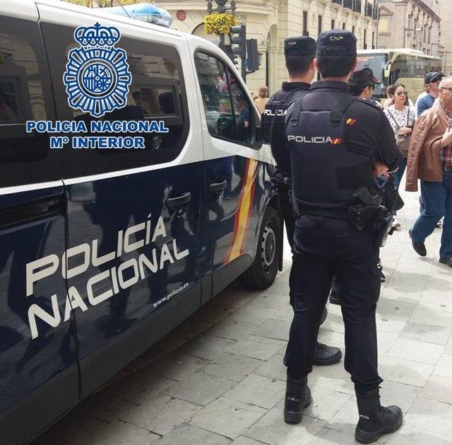 Imagen de archivo de agentes de la Policía Nacional