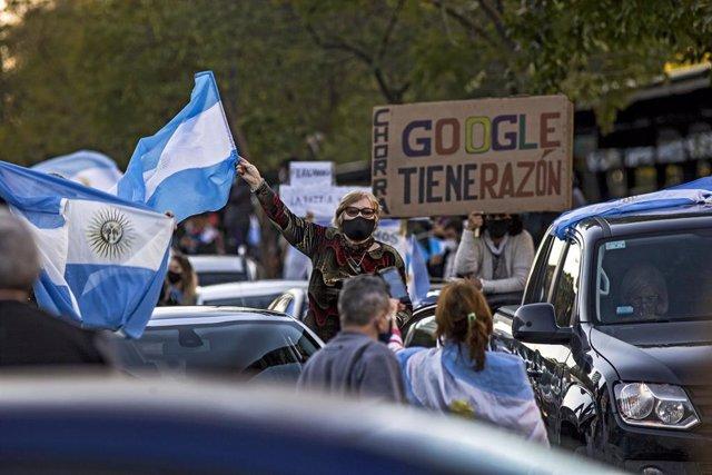 Protesta contra el Gobierno argentino en Buenos Aires