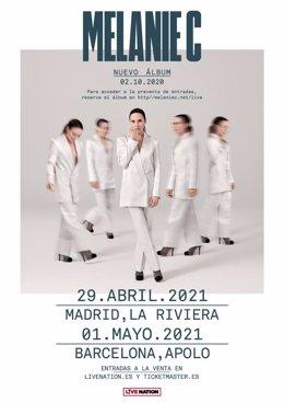 Melanie C visitarà Espanya en el seu gira europea