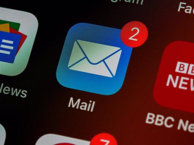 Aplicación de correo electrónico.
