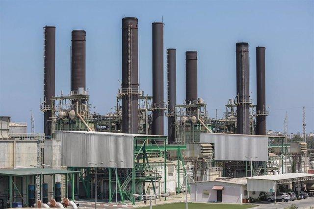 Planta de Nuseirat, la única que suministra electricidad en la Franja de Gaza