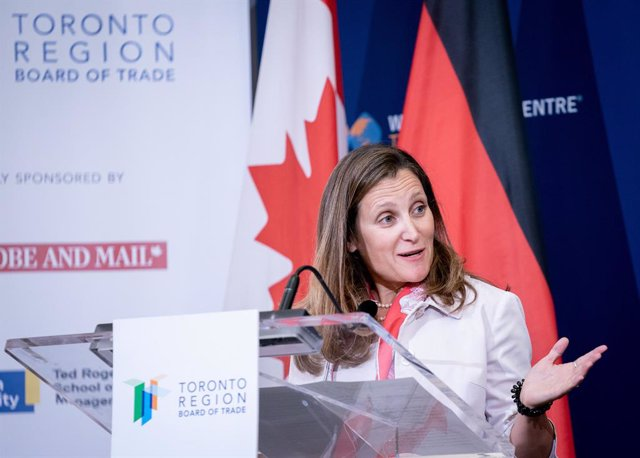 AMP.- Canadá.- Trudeau nombra a Chrystia Freeland nueva ministra de Finanzas de