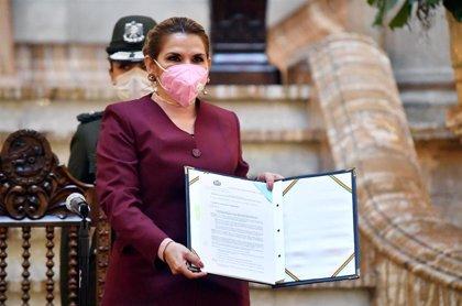 """Bolivia.- Áñez se reivindica ante el """"populismo"""" del MAS de cara a las elecciones a las que dijo que no se presentaría"""