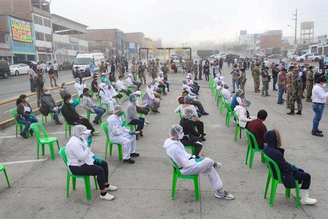 Coronavirus.- Perú supera las 26.600 muertes y se acerca a los 550.000 contagios