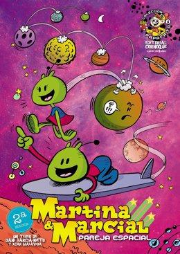 La editorial Cornoque reedita el cómic 'Martina y Marcial, pareja espacial'.
