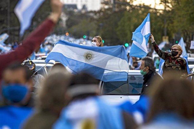 Protestas contra el Gobierno de Alberto Fernández en Buenos Aires