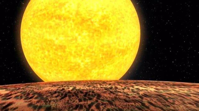 Un núcleo de gigante de gas se abrasa ante su estrella a 700 años luz