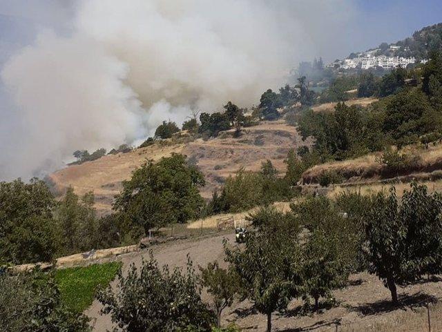 Incendio forestal de Bubión, ya extinguido