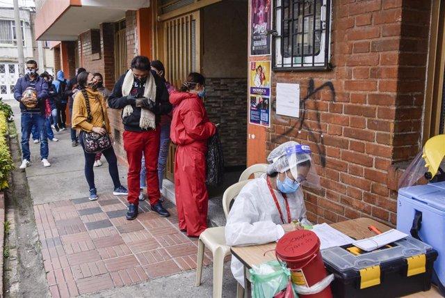 Pruebas del coronavirus en Bogotá