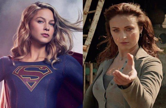 Melissa Benoist En 'Supergirl' Y Sophie Turner En 'X-Men: Fénix Oscura'