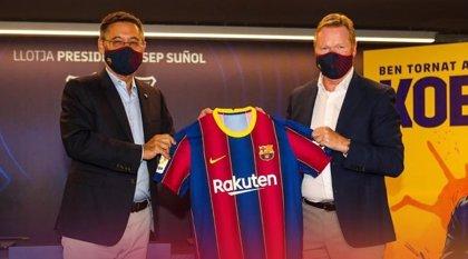 """Koeman: """"No sé si tengo que convencer a Messi"""""""
