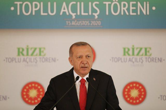 """Grecia/Turquía.- Erdogan llama al diálogo en el Mediterráneo y dice que """"ningún"""